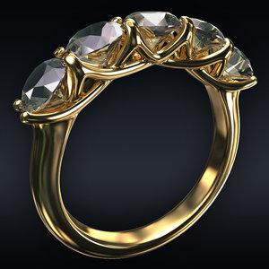 3D jewel ring