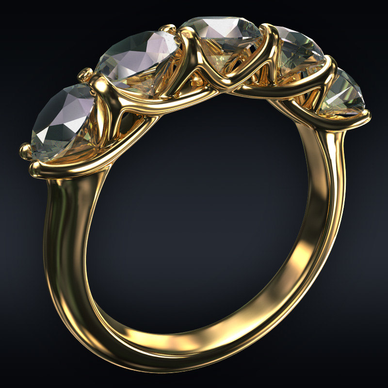 3D jewel ring
