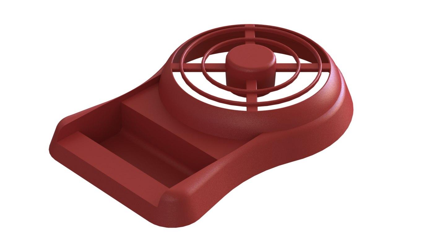 handle held fan case 3D model