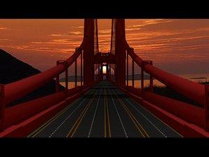 3D bridge san fransico