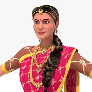 rutuja female person characters 3D