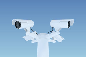 3D external surveillance video cameras model