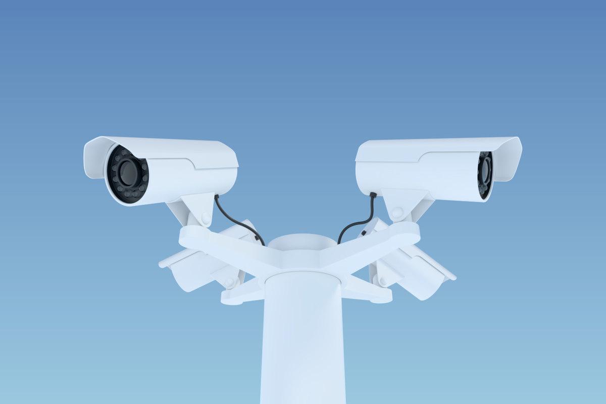 3D external surveillance video cameras model