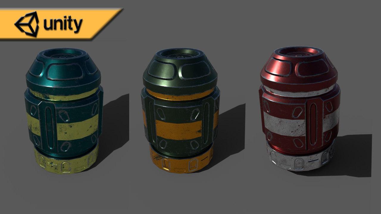 3D barrel games contains model