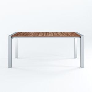 3D extending table model