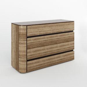 3D model chest drawers dovea