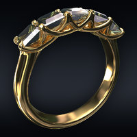 Jewel ring 5-square
