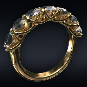 jewel ring 3D