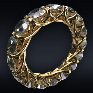 3D jewel ring model