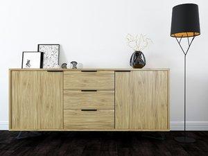 3D chest drawers bedroom model