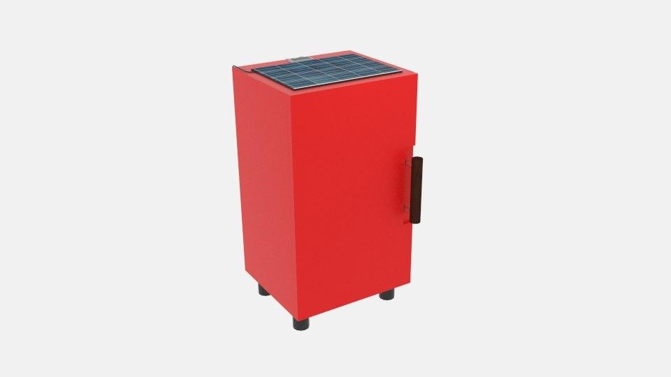 3D fridge solar