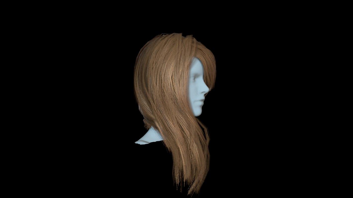 hair red 2 3D model