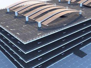 3D floor parking model