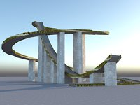 big bridge stunt jump 3D model