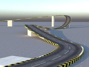 3D circuit road track