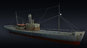 3D cargo ship