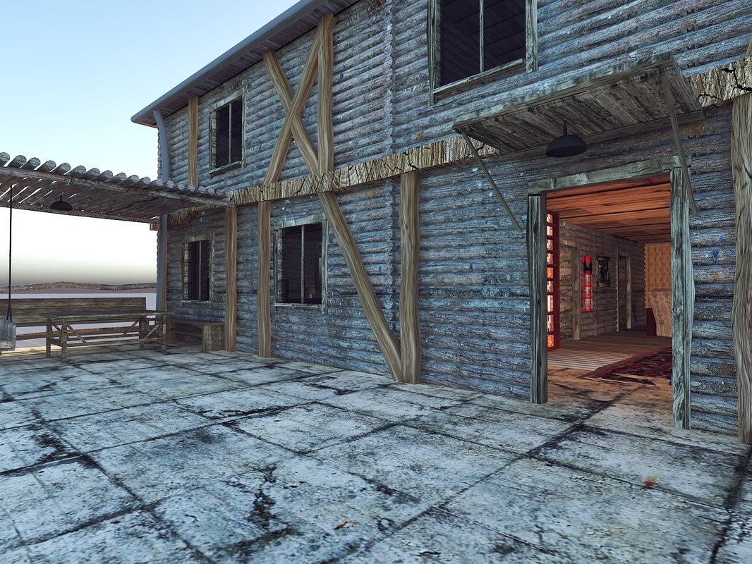horror house village model