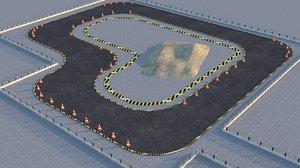 circuit drift race 3D model