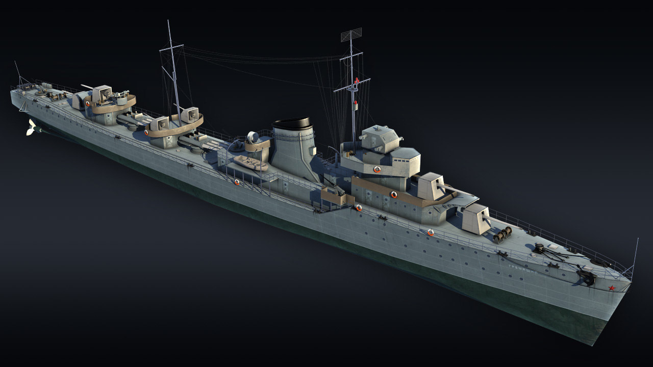 3D destroyer ship gremyashiy