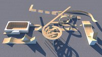 Stunt Arena Equipment VR / AR / low-poly