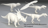 Dinosaur-5 peaces-low poly-part 8