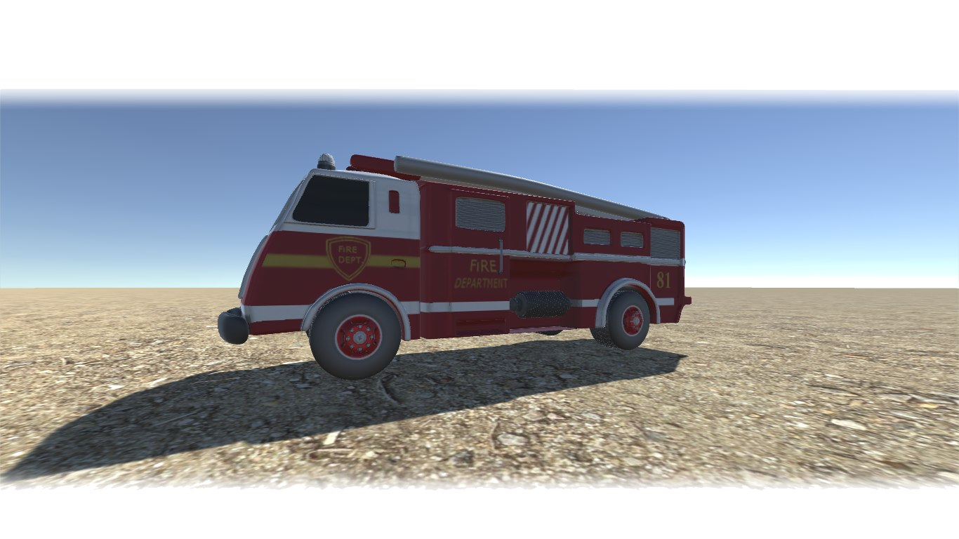 3D model truck unity cryengine
