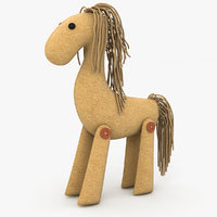 3D toy horse model