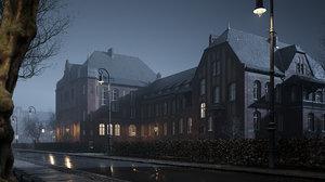 scene haunted hospital 3D
