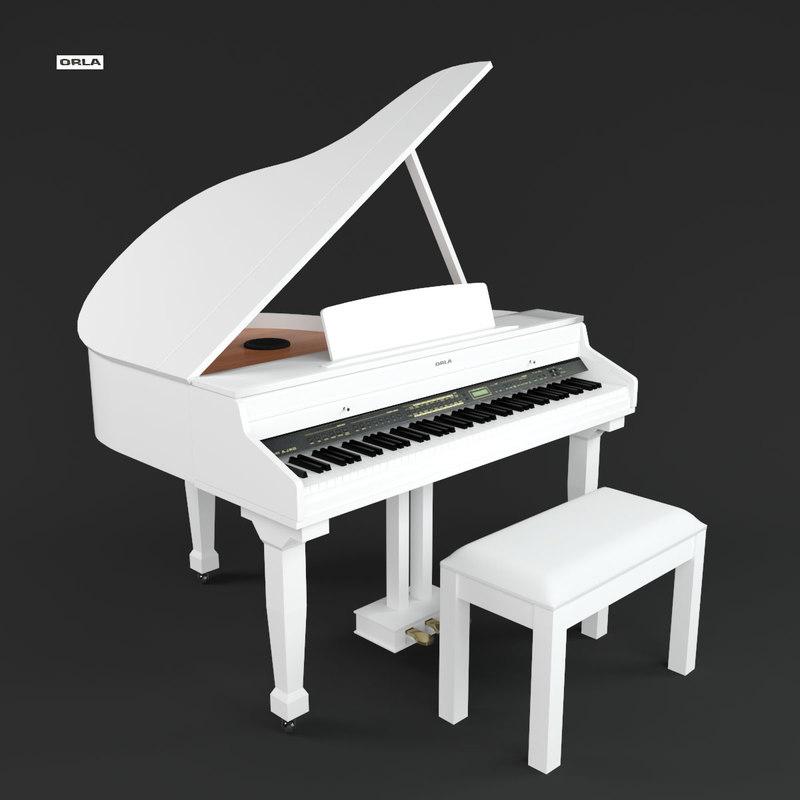 3D keyboard music
