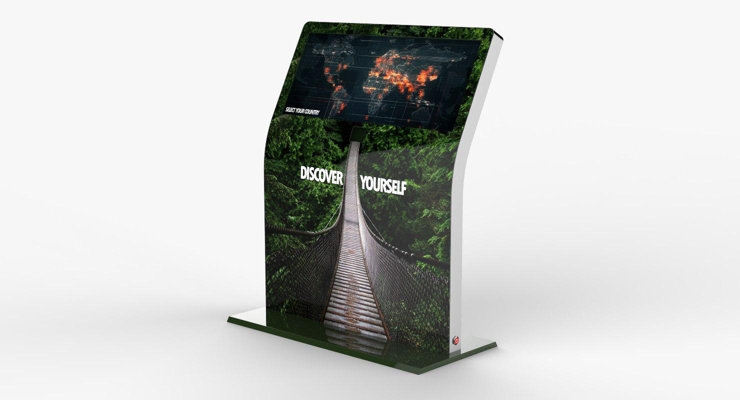 multi touch interactive kiosk 3D model