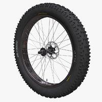 3D fatbike wheel model