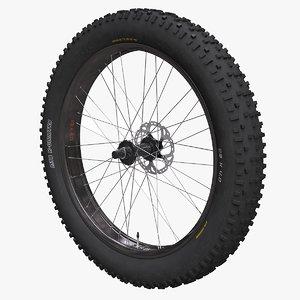 3D fatbike wheel model