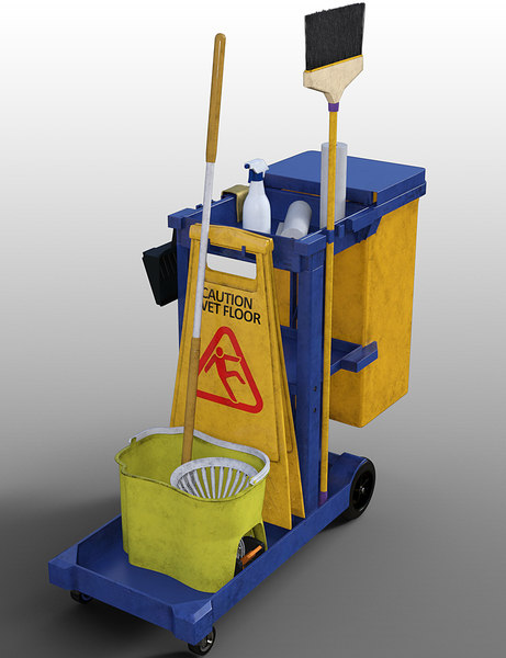 3D cleaning cart bucket