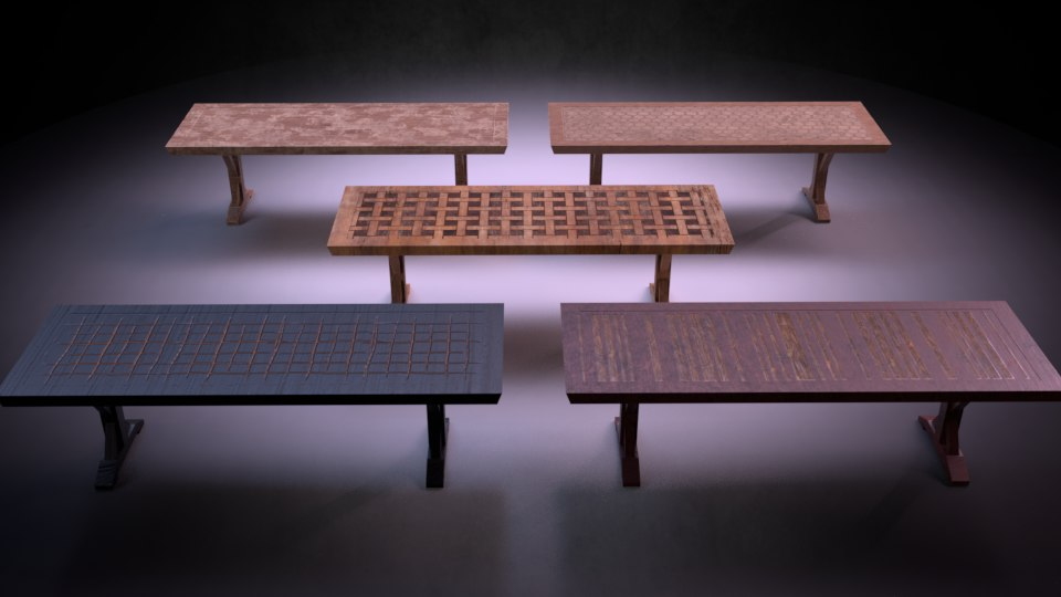 3D table m03 - marquis