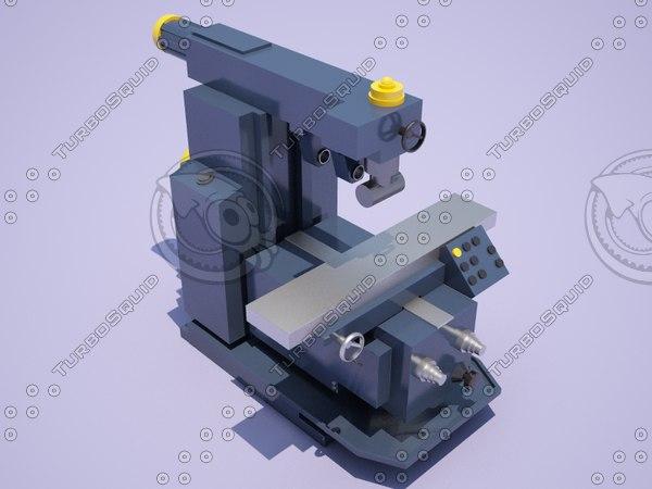 horizontal milling machine 6p82sh 3D model