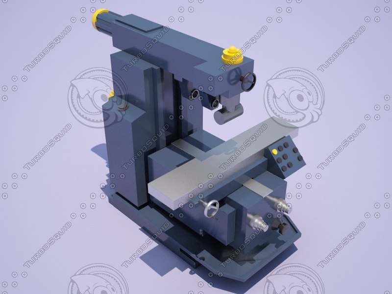 horizontal milling machine 6p82sh 3D model