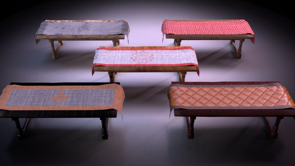 3D model table m01 - marquis