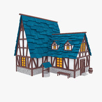 Half-timbered medieval house