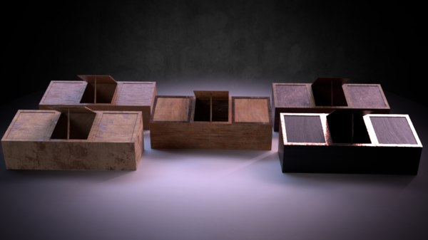 3D storage chest m01 -