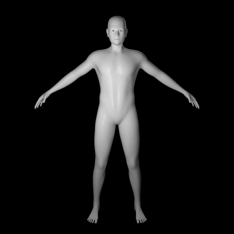 3D model body human
