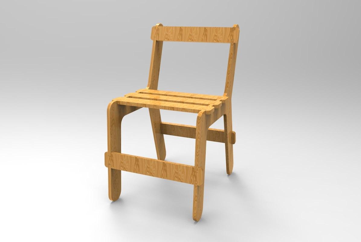 3D chair laser cut cnc