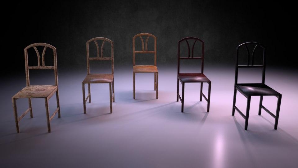 chair m02 - marquis 3D model