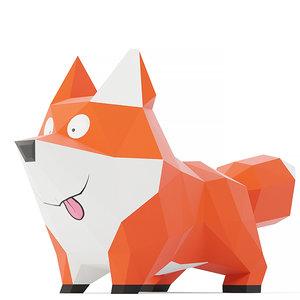 red foxy fox 3D