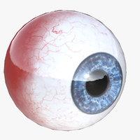 eye human iris 3D model
