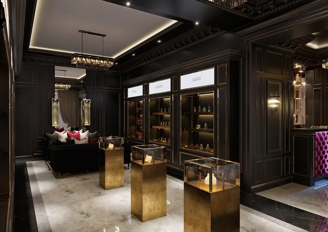 3D model modern perfume boutique