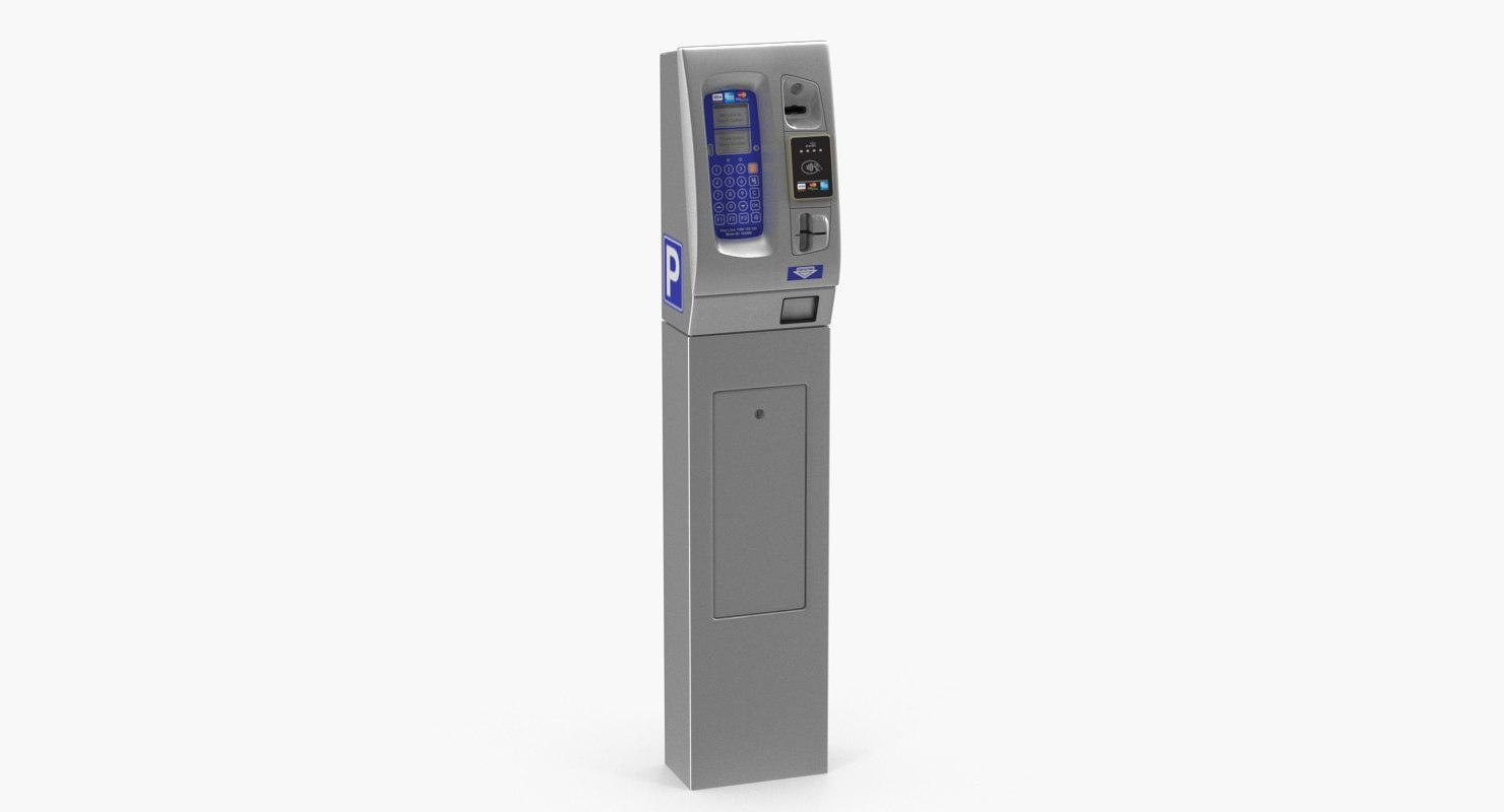 digital parking meter 3D