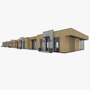 3D model pavilion store line
