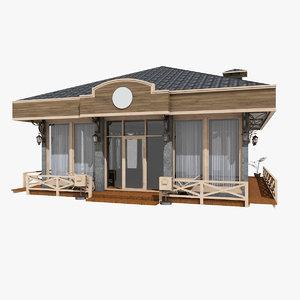 3D vintage pavilion store