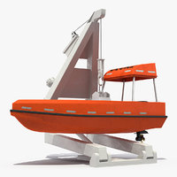 3D powerboat crane