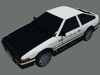 toyota trueno ae86 3D model